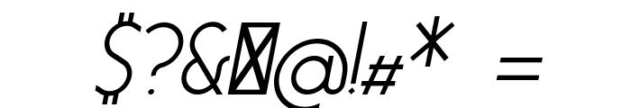 Essence Sans Italic Font OTHER CHARS