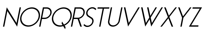 Essence Sans Italic Font UPPERCASE