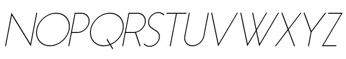 Essence Sans Light Italic Font UPPERCASE