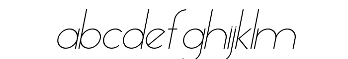 Essence Sans Light Italic Font LOWERCASE
