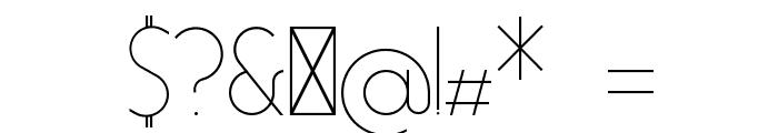 Essence Sans Light Font OTHER CHARS