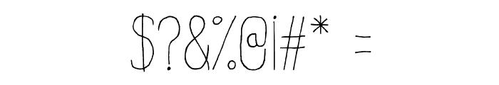 Estirada Molestar Font OTHER CHARS
