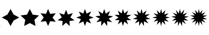 Estrellas TFB Font UPPERCASE
