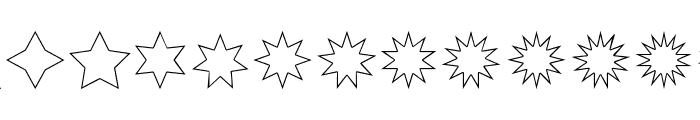 Estrellas TFB Font LOWERCASE