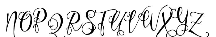 Eszty Script Demo Font UPPERCASE