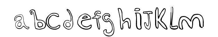esquiso Font LOWERCASE