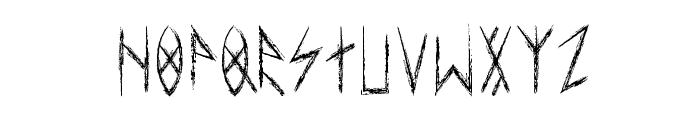 esthajnal Font UPPERCASE