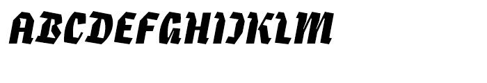 Eskapade Fraktur Black Italic Font UPPERCASE
