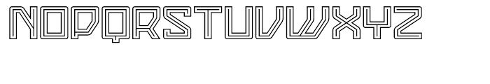 Eslava Double Line Font UPPERCASE