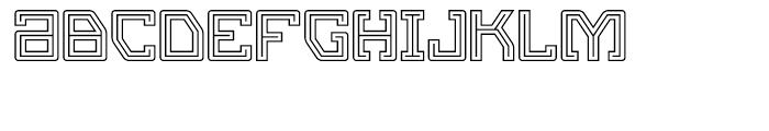 Eslava Double Line Font LOWERCASE