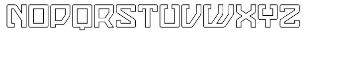 Eslava Outline Font LOWERCASE