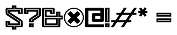 Eslava Inline Font OTHER CHARS