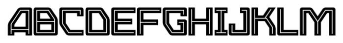 Eslava Inline Font UPPERCASE