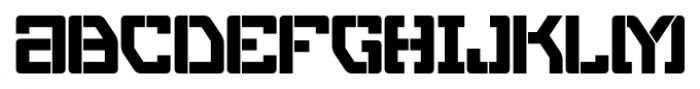 Eslava Stencil Font LOWERCASE