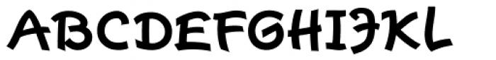 Escript Bold Font UPPERCASE