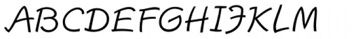 Escript Light Italic Font UPPERCASE