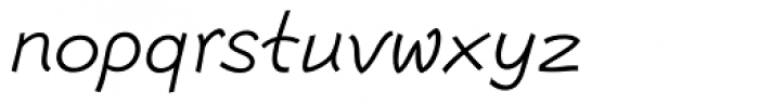 Escript Light Italic Font LOWERCASE