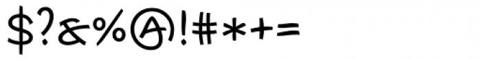 Escript Medium SC Font OTHER CHARS