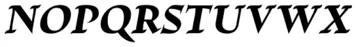 Escritura Display Extra Bold Italic Font UPPERCASE