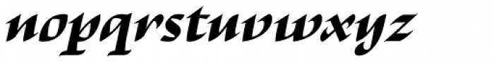 Escritura Display Extra Bold Italic Font LOWERCASE