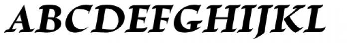 Escritura Extra Bold Italic Font UPPERCASE