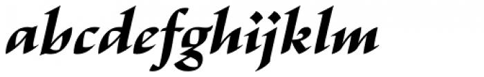 Escritura Extra Bold Italic Font LOWERCASE