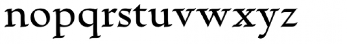 Escritura Hebrew Medium Font LOWERCASE