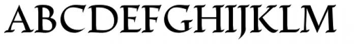 Escritura Medium Font UPPERCASE