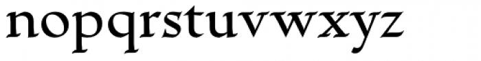 Escritura Medium Font LOWERCASE