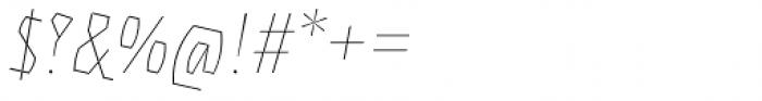 Eskapade Fraktur Thin Italic Font OTHER CHARS