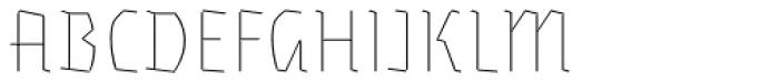 Eskapade Fraktur Thin Font UPPERCASE