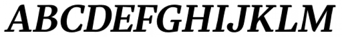 Eskorte Latin SemiBold Italic Font UPPERCASE