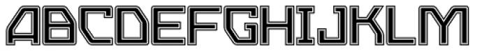 Eslava Inline 2 Font UPPERCASE