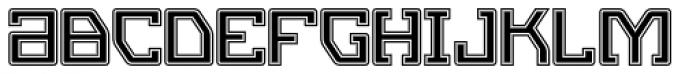 Eslava Inline 2 Font LOWERCASE