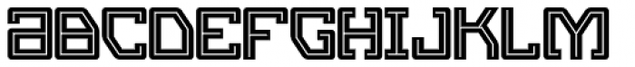 Eslava Inline Font LOWERCASE