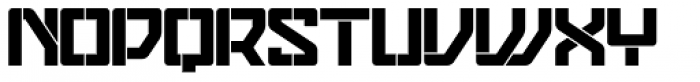 Eslava Stencil Font UPPERCASE