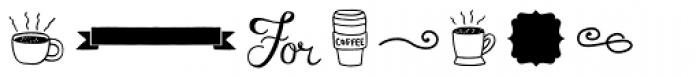 Espresso Beans Extras Font UPPERCASE
