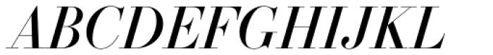 Essonnes Headline Italic Font UPPERCASE