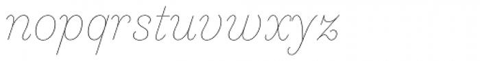 Essonnes Headline Thin Italic Font LOWERCASE