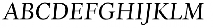 Esta Pro Italic Font UPPERCASE