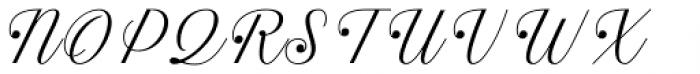 Estampa Script Extra Light Font UPPERCASE
