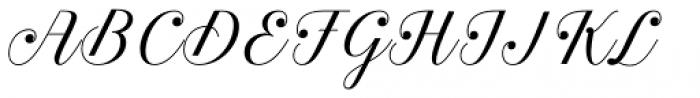 Estampa Script Light Font UPPERCASE