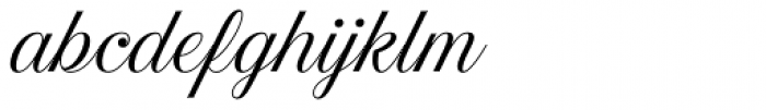 Estampa Script Light Font LOWERCASE