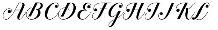 Estampa Script Regular Font UPPERCASE