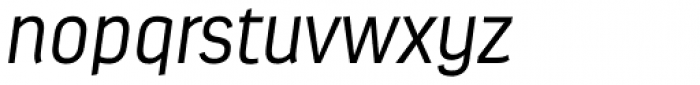 Estandar Light Italic Font LOWERCASE