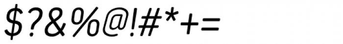 Estandar Rounded Light Italic Font OTHER CHARS