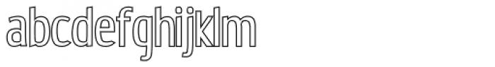 Estiliza Outline Font LOWERCASE