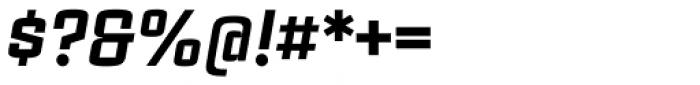 Estricta Black Italic Font OTHER CHARS