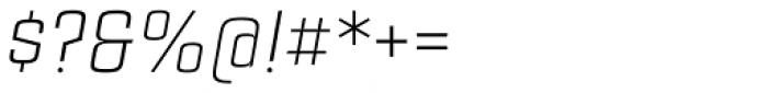 Estricta Light Italic Font OTHER CHARS