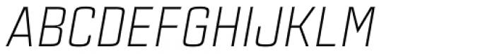 Estricta Light Italic Font UPPERCASE